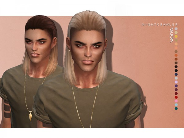 The Sims Resource: Meliorn hair by Nightcrawler Sims for Sims 4