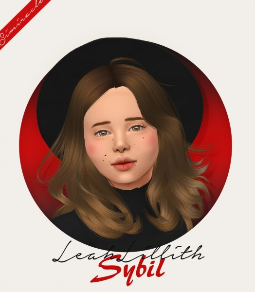 Simiracle: LeahLillith` Sybil hair retextured   Kids Version for Sims 4