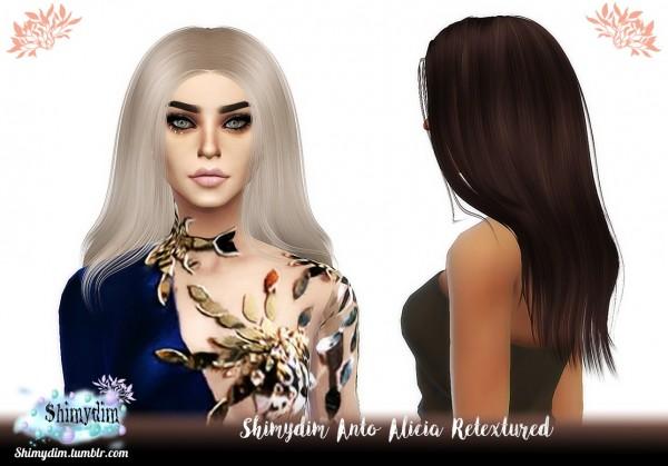 Shimydim: Anto`s Alicia Hair Retextured for Sims 4