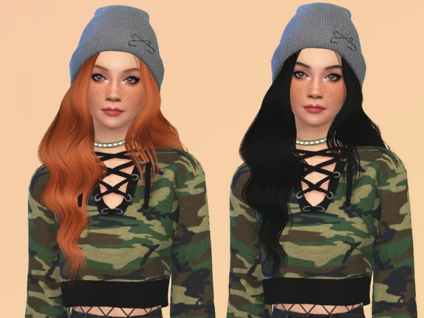 The Sims Resource: Callie Hair Recolored by ncggsimmer for Sims 4