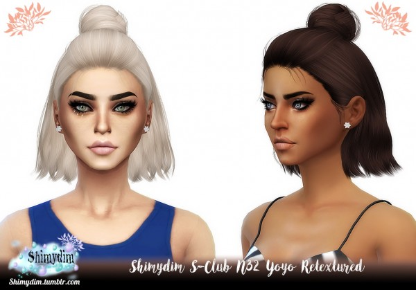 Shimydim: Yoyo Hair Retextured for Sims 4