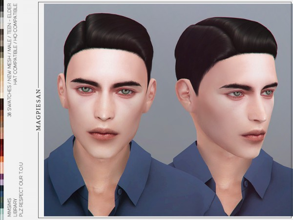 The Sims Resource: Library Hair by magpiesan for Sims 4