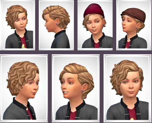 Birksches sims blog: Kids Magic Curls hair for Sims 4