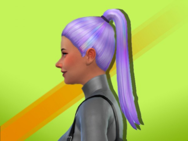 The Sims Resource: Kaceys Ponytail hair retextured by anastasiac21 for Sims 4