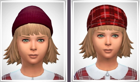 Birksches sims blog: Little Ronja Bob hair for Sims 4