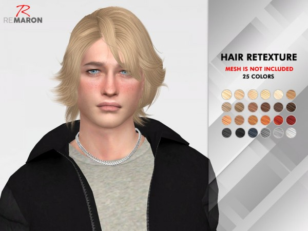 The Sims Resource: Wings ON0712 hair retextured by remaron for Sims 4