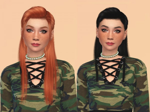 The Sims Resource: Anto`s Erika Hair Retextured by ncggsimmer for Sims 4
