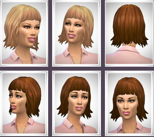 Birksches sims blog: Ladys Short Bobby Hair for Sims 4