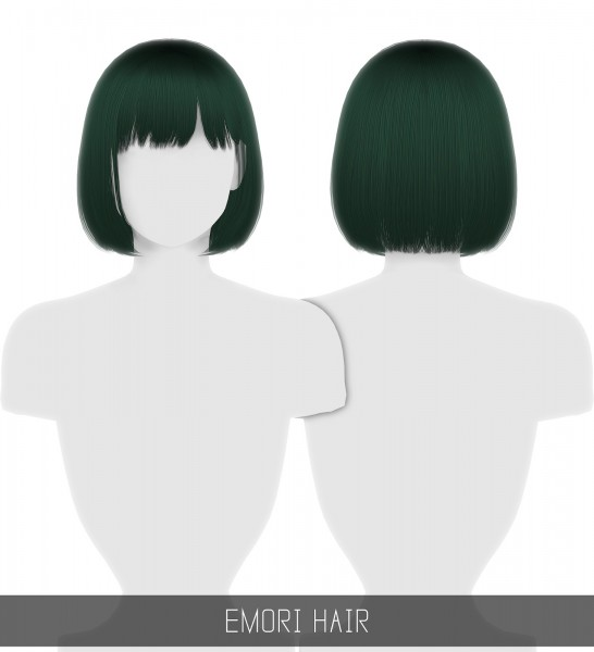 Simpliciaty: Emori hair for Sims 4