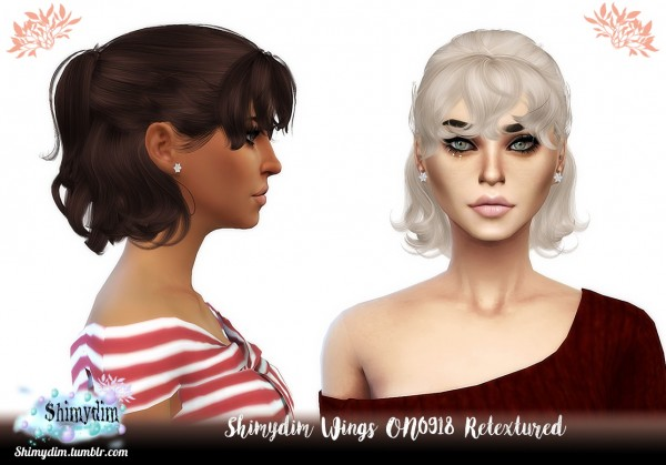 Shimydim: Wings ON0918 hair retextured for Sims 4