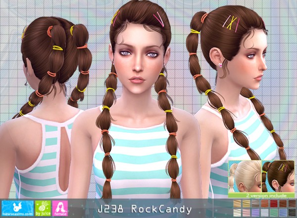 NewSea: J238 Rock Candy Hair for Sims 4
