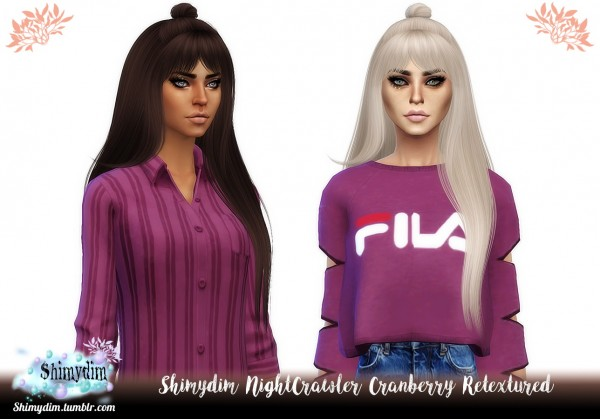 Shimydim: NightCrawler`s Cranberry Hair Retextured for Sims 4