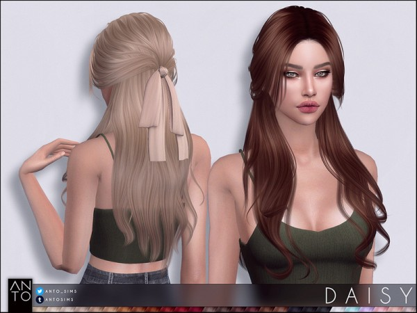 The Sims Resource: Daisy hair by Anto for Sims 4