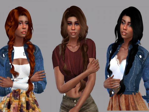The Sims Resource: Wings Hair OE0316 Recolored by Teenageeaglerunner for Sims 4