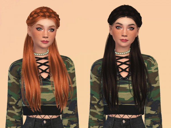 The Sims Resource: Surrender Hair Recolored by ncggsimmer for Sims 4