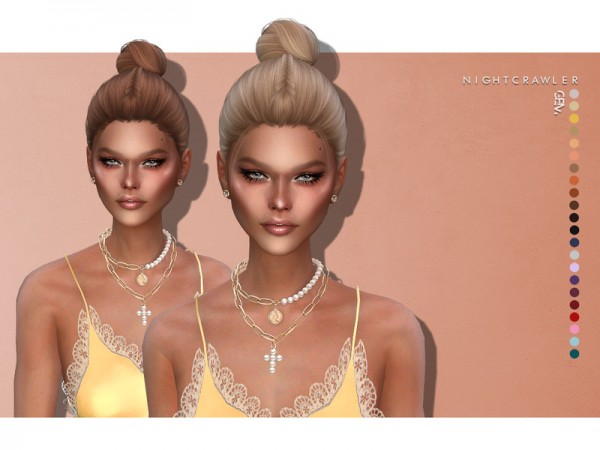 The Sims Resource: Gem hair by Nightcrawler Sims for Sims 4