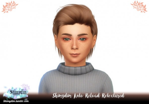 Shimydim: Anto`s Reload Hair Retextured for Sims 4