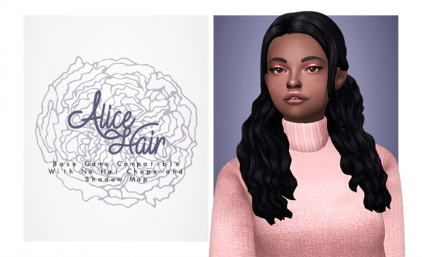 Isjao: Alice Hair for Sims 4
