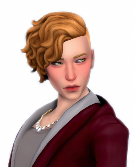 Simandy: Morgyn Hair for Sims 4