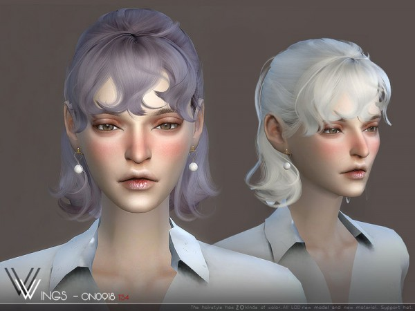 The Sims Resource: WINGS ON0918 hair for Sims 4