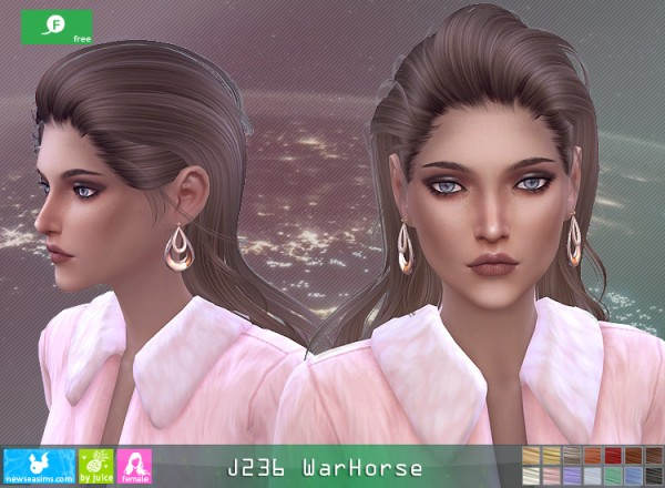 NewSea: J236 WarHorse hair for Sims 4