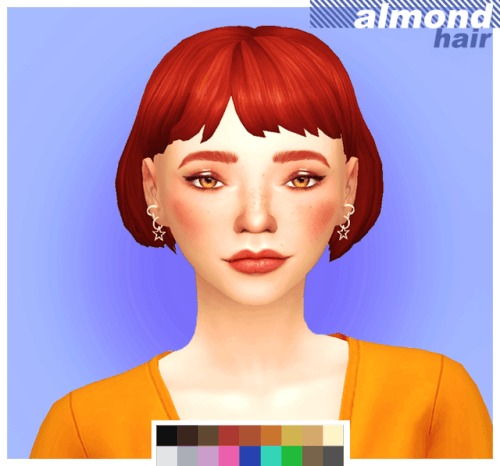 Cowconuts: Almond Hair for Sims 4
