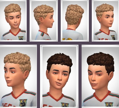 Birksches sims blog: Kids Pixie Curls hair for Sims 4