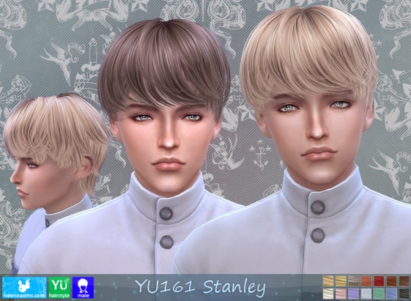 NewSea: Yu 161 Stanley hair for Sims 4