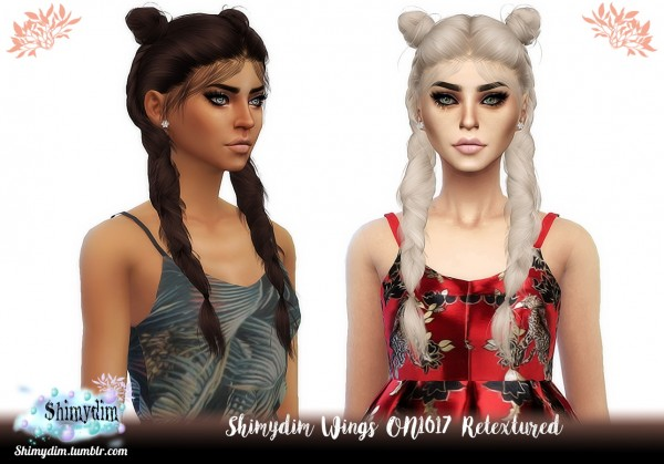 Shimydim: Wings ON1017 Hair Retextured for Sims 4