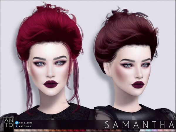 The Sims Resource: Samantha hair by Anto   for Sims 4