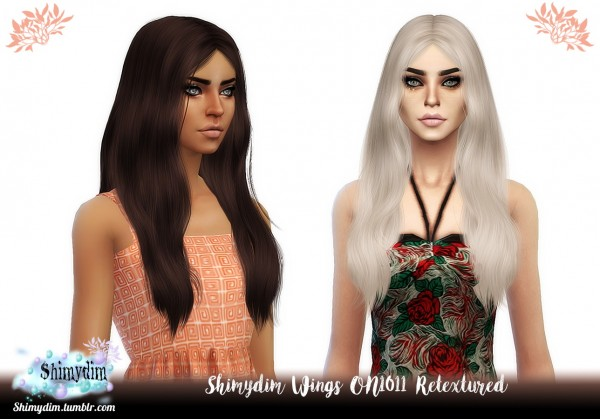 Shimydim: Wings ON1011 Hair Retexture for Sims 4