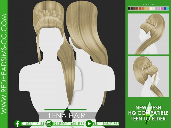 Coupure Electrique: Lena hair retextured for Sims 4