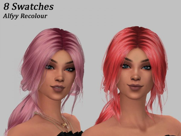 The Sims Resource: Anto`s Youth hair recolored for Sims 4