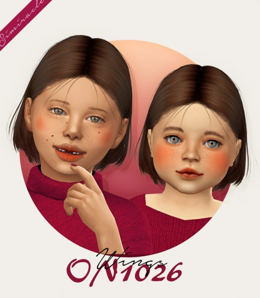 Simiracle: WINGS ON1026 hair retextured for Sims 4