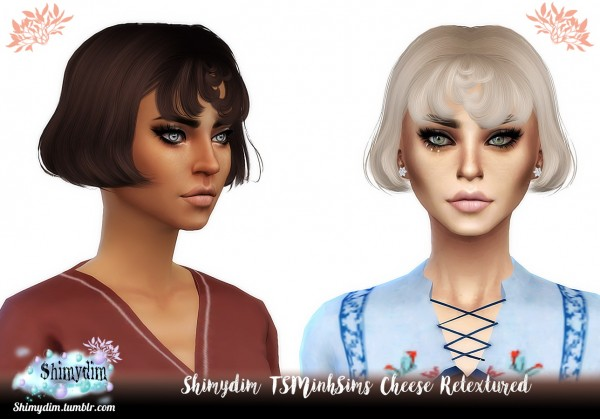 Shimydim: Tsminh`s Cheese hair retextured for Sims 4