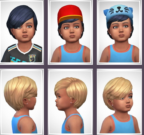 Birksches sims blog: Dominik Hair Toddler Version for Sims 4