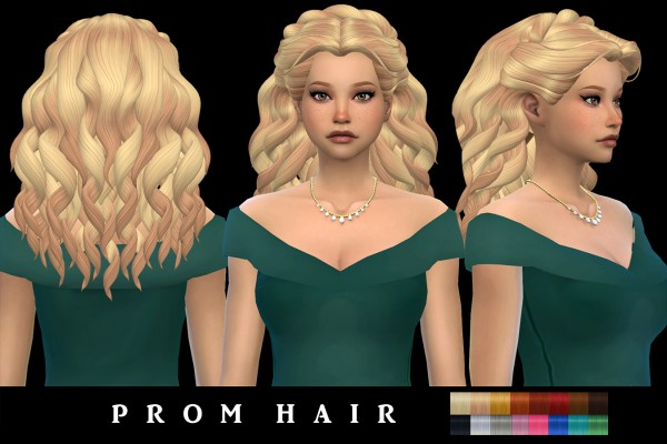 Leo 4 Sims: Prom Hair for Sims 4