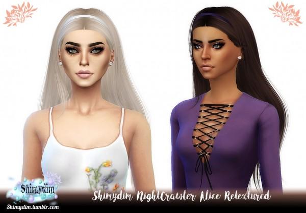 Shimydim: NightCrawler`s Alice hair retextured for Sims 4