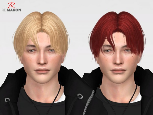 The Sims Resource: Wings ON0218 hair retextured by remaron for Sims 4