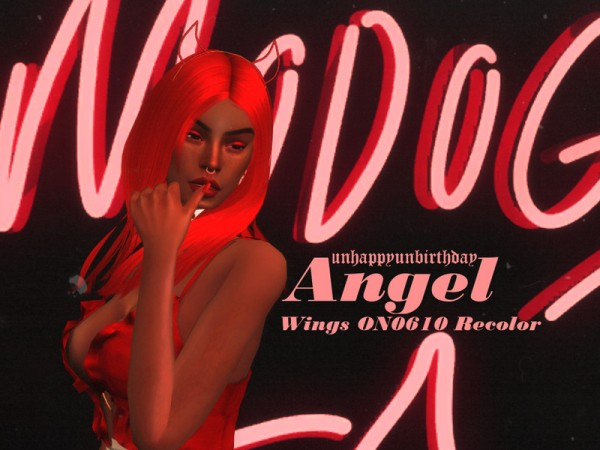 The Sims Resource: Angie WINGS ON0610 Hair Retextured by unhappyunbirthday for Sims 4
