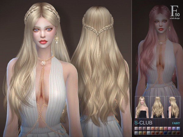 The Sims Resource: Fairy hair n50 by S Club for Sims 4
