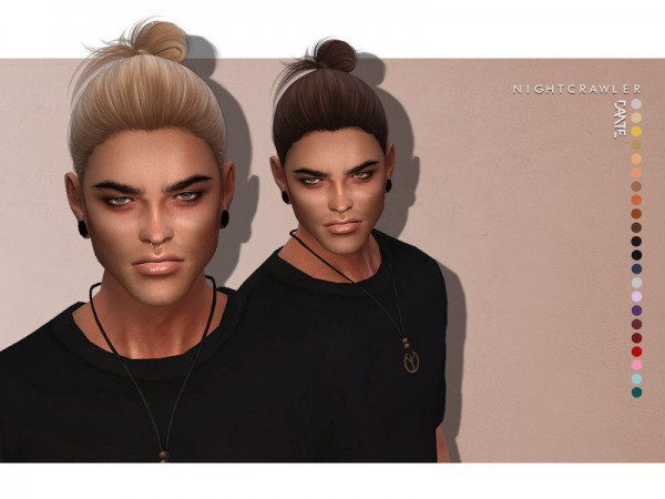 The Sims Resource: Dante hair by Nightcrawler Sims for Sims 4