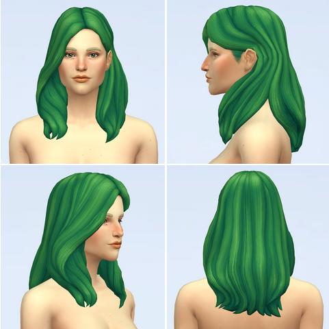 Rusty Nail: Wavy Hair Edit V2 for Sims 4