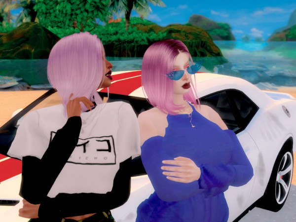The Sims Resource: New Love hair recolored by unhappyunbirthday for Sims 4