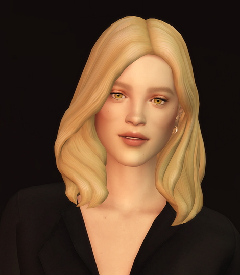 Rusty Nail: Wavy Hair Edit V3 for Sims 4