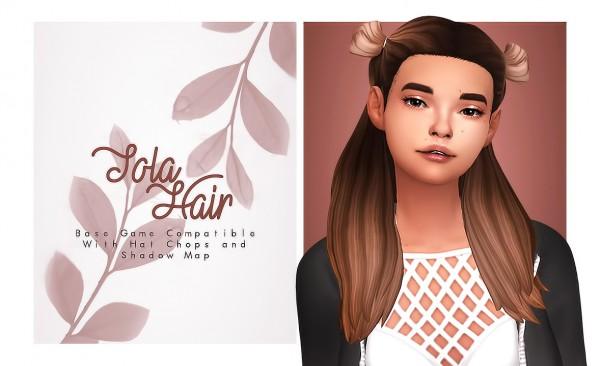 Isjao: Tola Hair for Sims 4