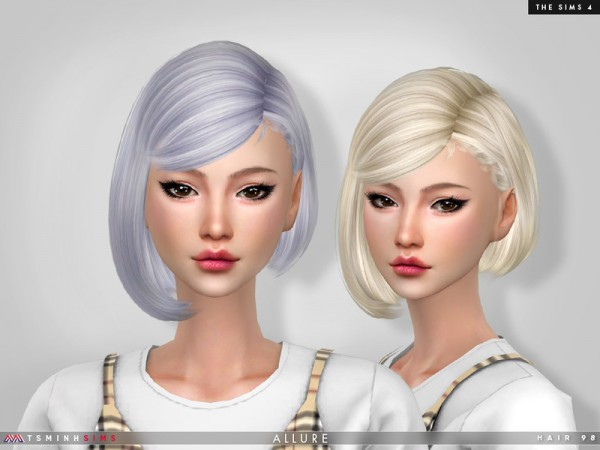 The Sims Resource: Allure   Hair 98 by TsminhSims for Sims 4