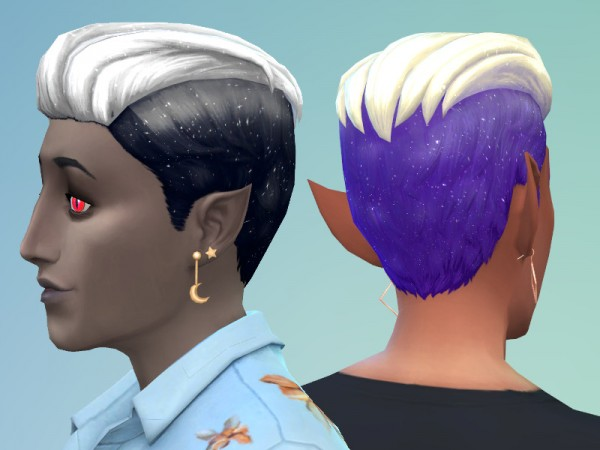 The Sims Resource: Moonstone Hair retextured by spadesart for Sims 4