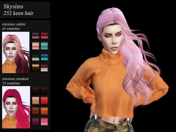 The Sims Resource: Skysims 252 Hair Retextured by Jenn Honeydew Hum for Sims 4