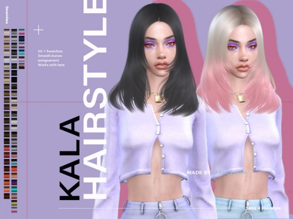 The Sims Resource: Kala Hair by Leah Lillith for Sims 4